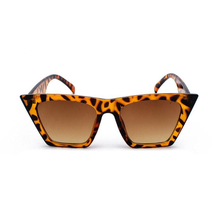 cat eye sunglasses leopard print